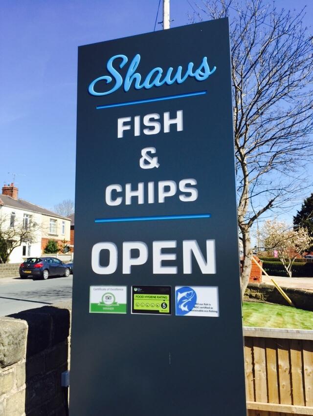 New shop sign